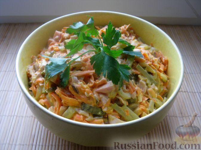 Сытный салат Обжорка— рецепт приготовления на праздник