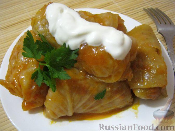 Рецепт Голубцы домашние (из квашеной капусты)