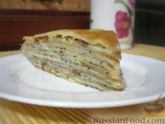 """Рецепт Блинный торт """"Маковка"""" с заварным кремом"""