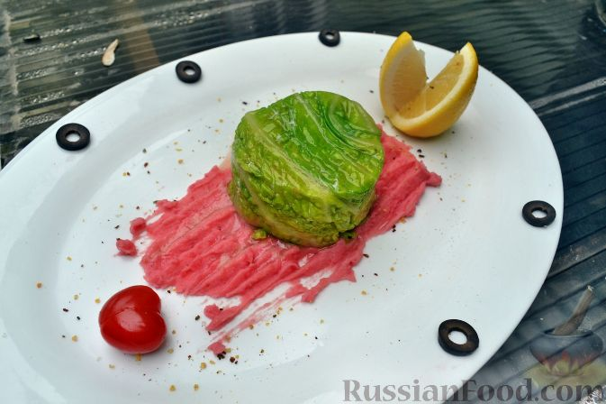 Рецепт Мусс из форели, с красным пюре