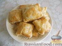 Фото к рецепту: Слоеные конвертики с двумя видами начинок