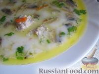 Фото к рецепту: Сырный суп с фрикадельками