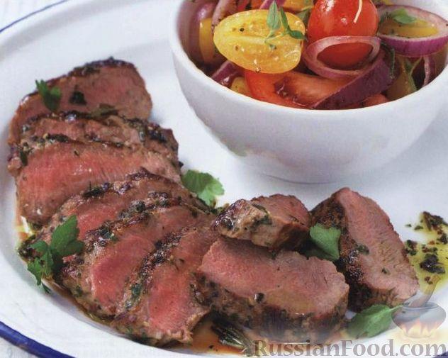 Рецепт Баранина с петрушкой и розмарином, жареная на гриле