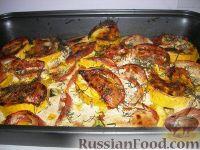 Фото к рецепту: Запечённые кабачки