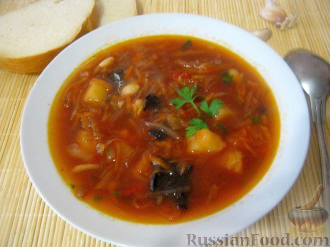 Постный украинский борщ рецепт