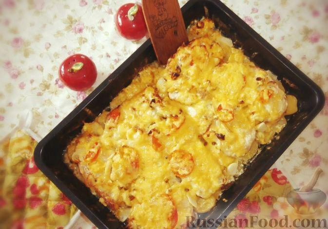 как приготовить картофель с мясом по французски