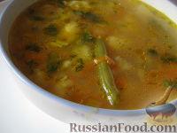 Фото к рецепту: Рисовый суп с цветной капустой и спаржевой фасолью