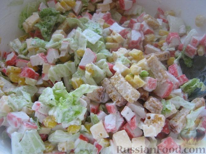 Салат моментальный рецепт пошагово