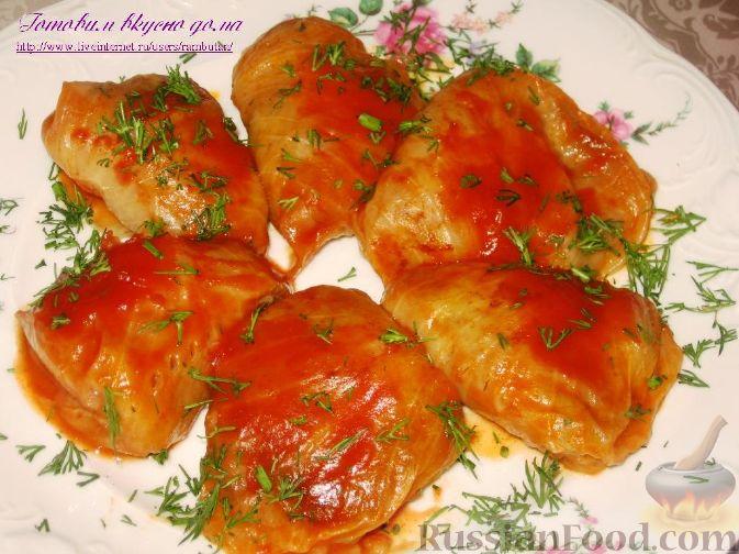 Рецепт Карпатские голубцы с дерунами, фасолью и грибами