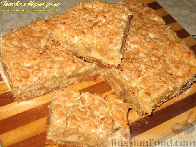 рецепт пирога из яблок из муки и манной крупы