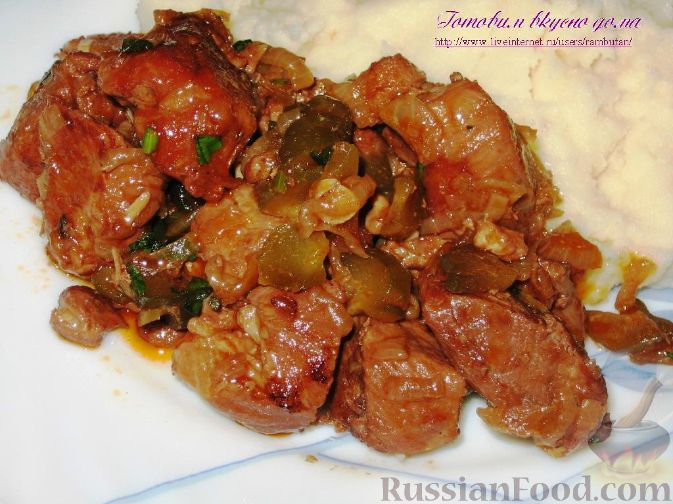 Рецепт Говядина в остром соусе