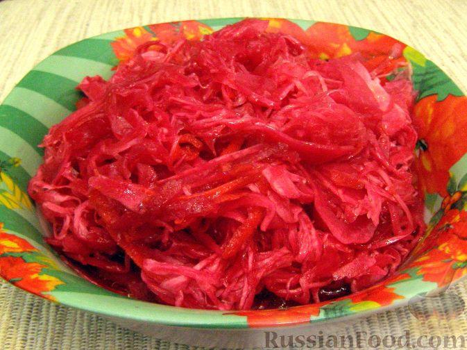 Рецепт Капуста квашеная в маринаде (быстрый способ)