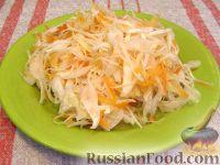Фото к рецепту: Белокочанная квашеная капуста трехдневка
