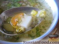Фото к рецепту: Рассольник с кукурузой