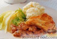 Фото к рецепту: Мясо, запеченное под песочным тестом