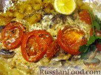 Фото к рецепту: Скумбрия, запеченная в фольге