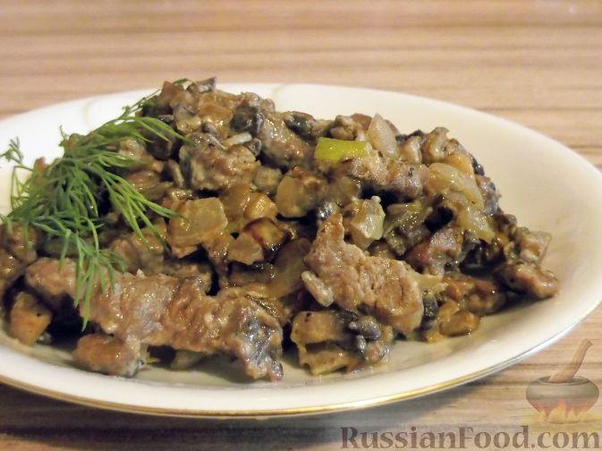 Рецепт Беф-строганов в грибном соусе