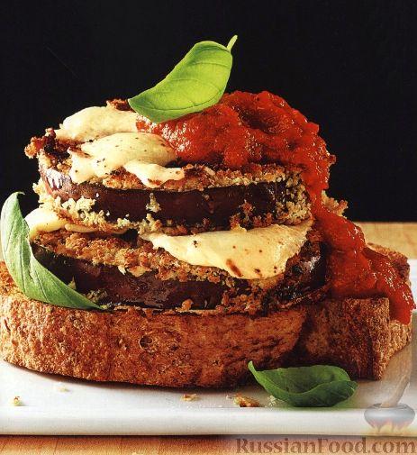 Рецепт Горячие бутерброды с баклажанами