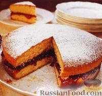 бисквит кекс рецепт с повидлом