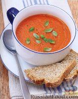 Фото к рецепту: Томатный суп-пюре с базиликом