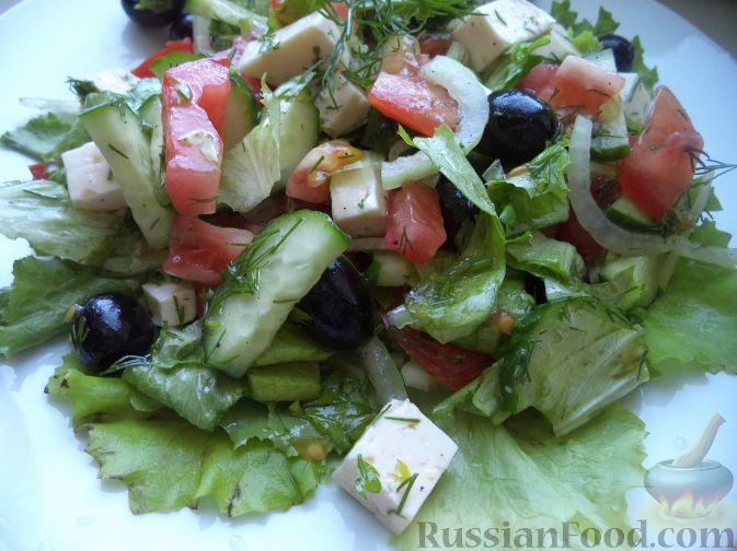 салат из свежих овощей с брынзой рецепт