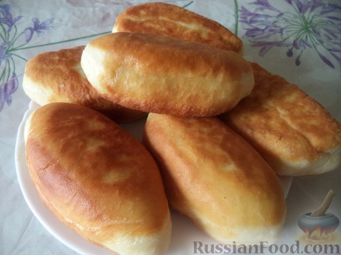 Жареные пирожки с яблоками рецепт