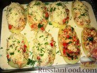 Картофельные лодочки с мясом, помидорами и сыром - рецепт пошаговый с фото