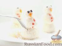 Фото к рецепту: Снеговики из cладкого творога
