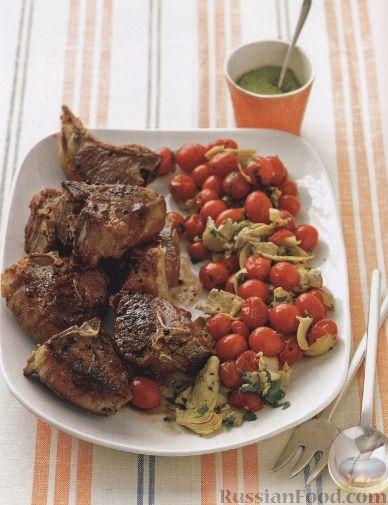 Рецепт Жареная баранина с фисташковым соусом