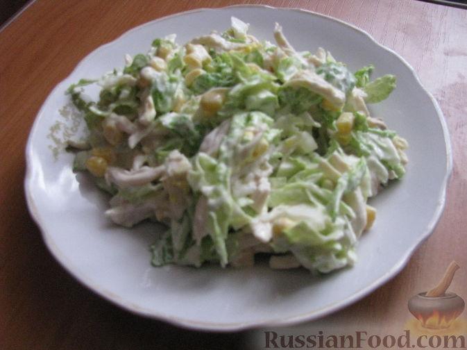 Рецепт Салат из пекинской капусты с курицей