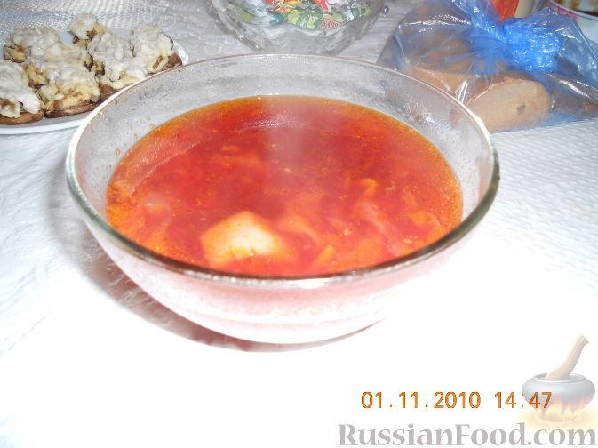 борщ по украински рецепт с фото 2012