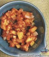 Фото к рецепту: Сальса из печеных персиков