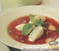 Фото к рецепту: Томатный суп с клецками