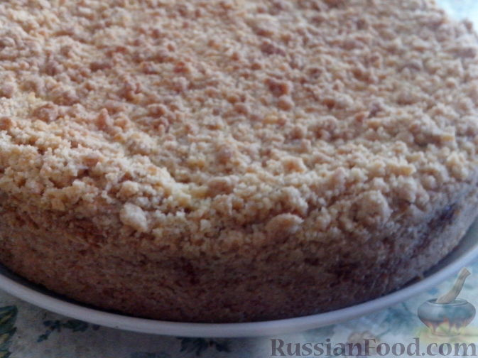 Рецепт Нежный пирог с творожно-абрикосово-маковой начинкой