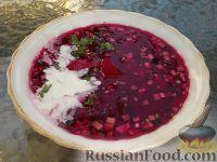 Фото к рецепту: Борщ красный холодный