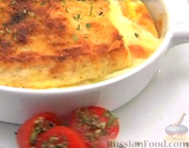 Рецепт Запеканка хлебная с сыром Моцарелла