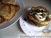 Фото к рецепту: Кабачковые оладушки