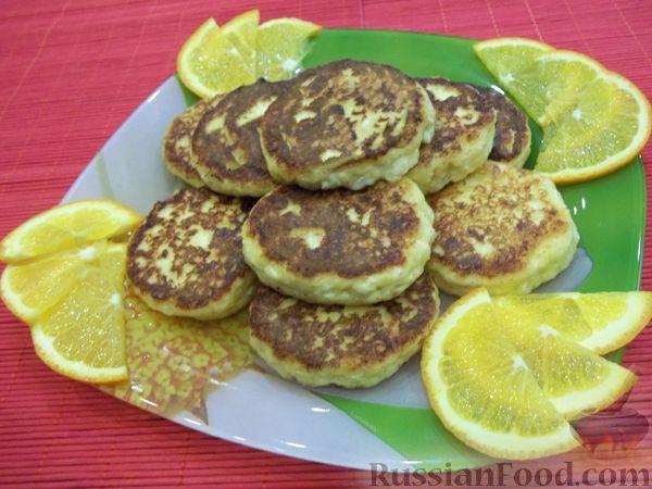 Рецепт Сырники с апельсиновым соком