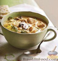 Фото к рецепту: Куриный суп с брокколи и вермишелью