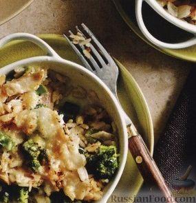 Рецепт Рис, запеченный с брокколи, куриным филе и сыром
