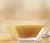 Фото к рецепту: Заправка из черного бальзамика с майонезом и чесноком