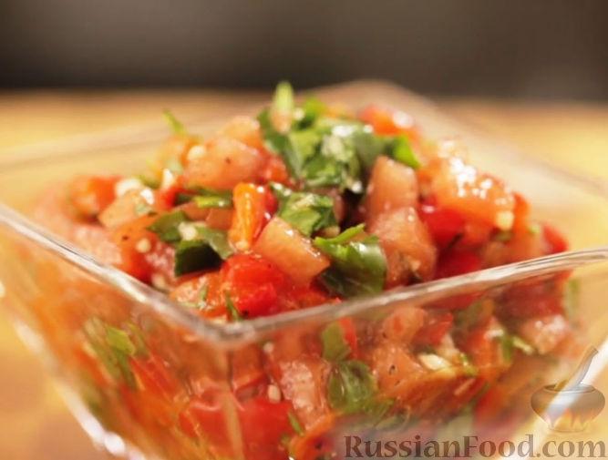 Рецепт Сальса из печеного перца с томатами