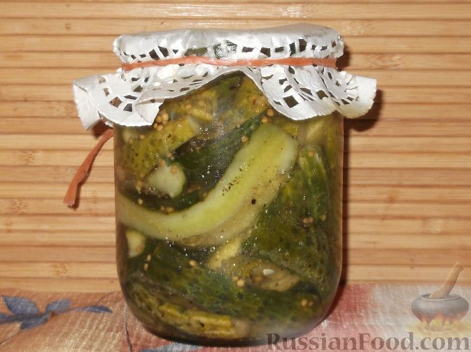 Рецепт Огурцы с сухой горчицей