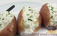 Фото к рецепту: Печеный картофель с сыром