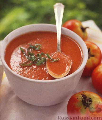 Томатный суп из помидоров