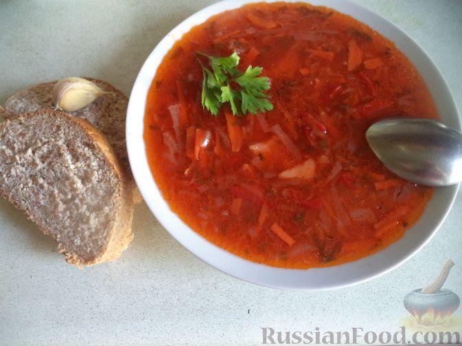 Рецепт Красный борщ без мяса