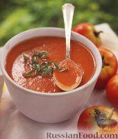 Фото к рецепту: Томатный суп-пюре с травами