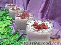 Фото к рецепту: Молочное желе с клубникой и мороженым