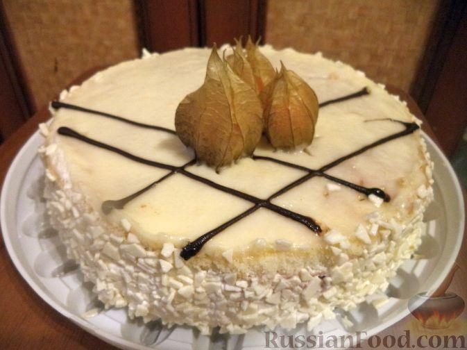 Рецепт Бисквитный торт с масляно-заварным кремом
