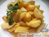 Фото к рецепту: Картофель дольками в духовке